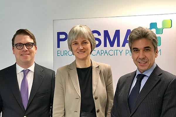 Götz Lincke, Catherine Brun and Gaetano Mazzitelli at the PRISMA Shareholder Meeting on 22nd March 2017.